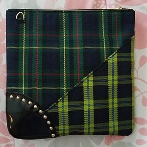 MAC Cosmetics Bags - MAC Plaid Cosmetic Purse   Crossbody Purse NWOT